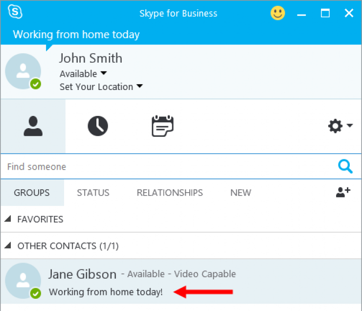 Adding a Personal Note in Skype for Business - Velsoft Blog