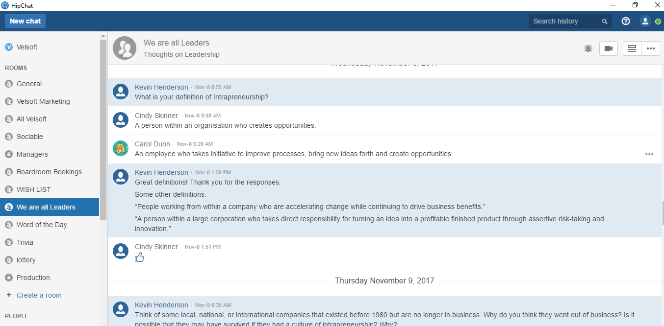 hipchat microlearning