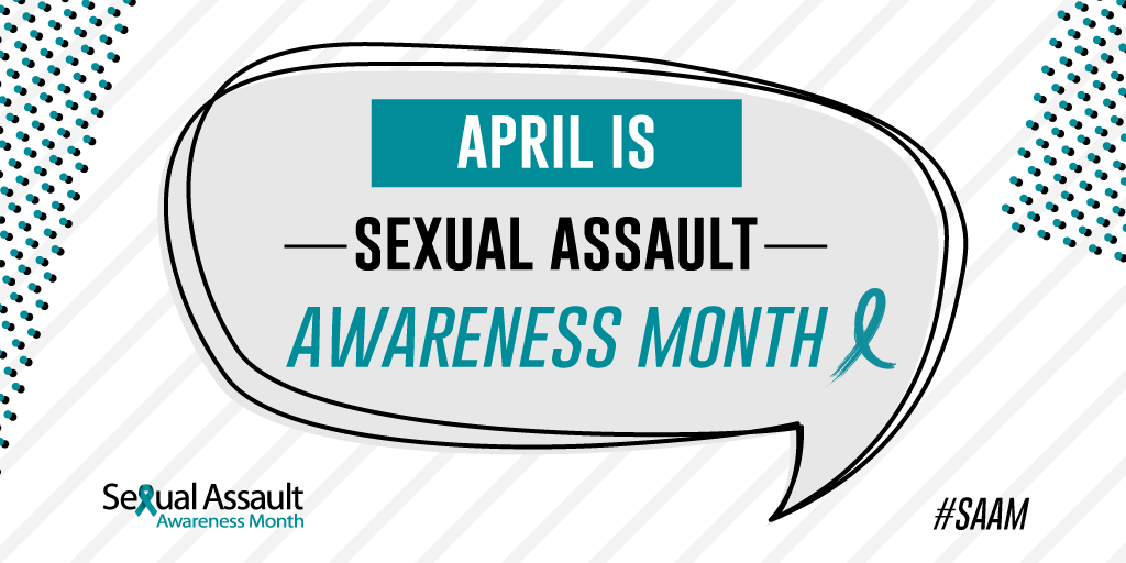 sexual assault awareness month logo