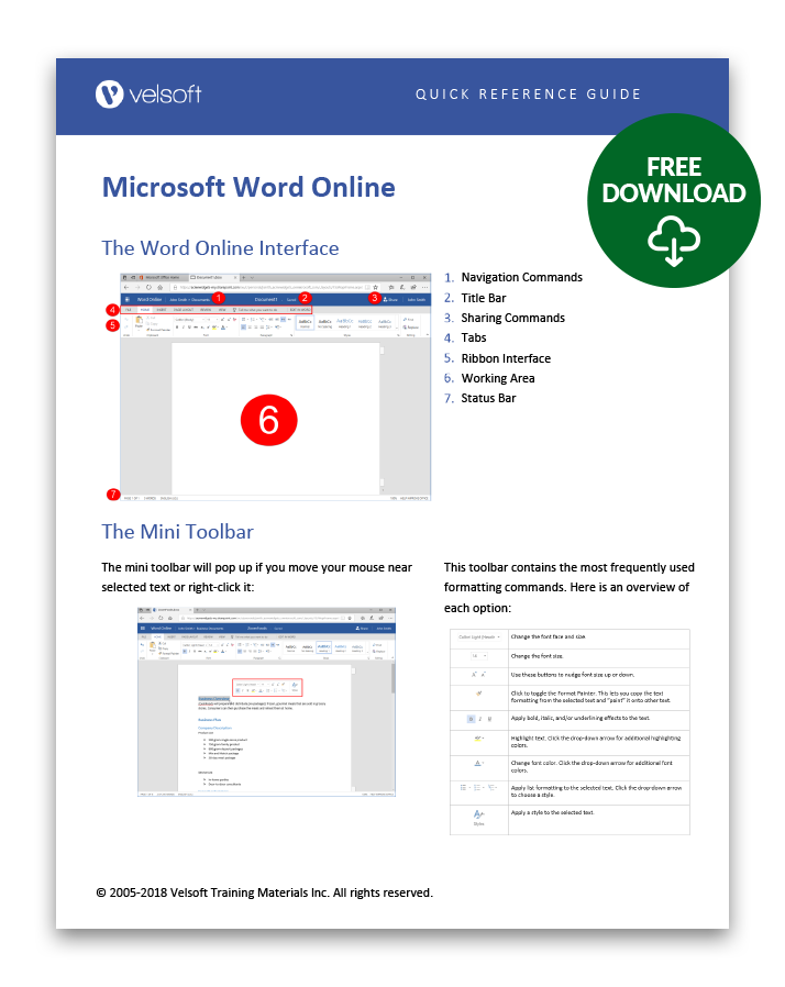 Word Online QRG download