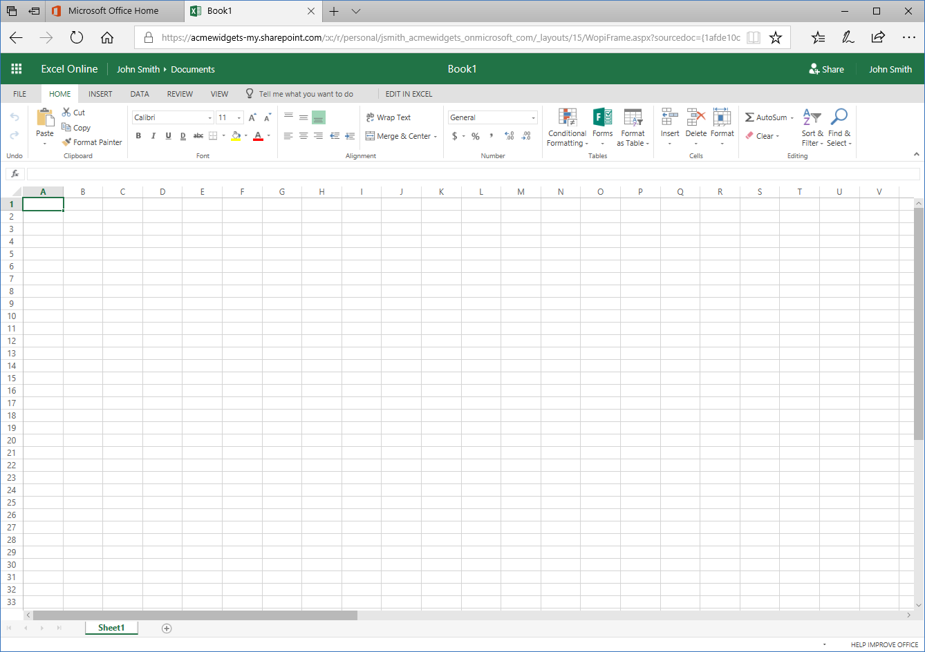 Getting Started with Microsoft Excel Online - Velsoft Blog