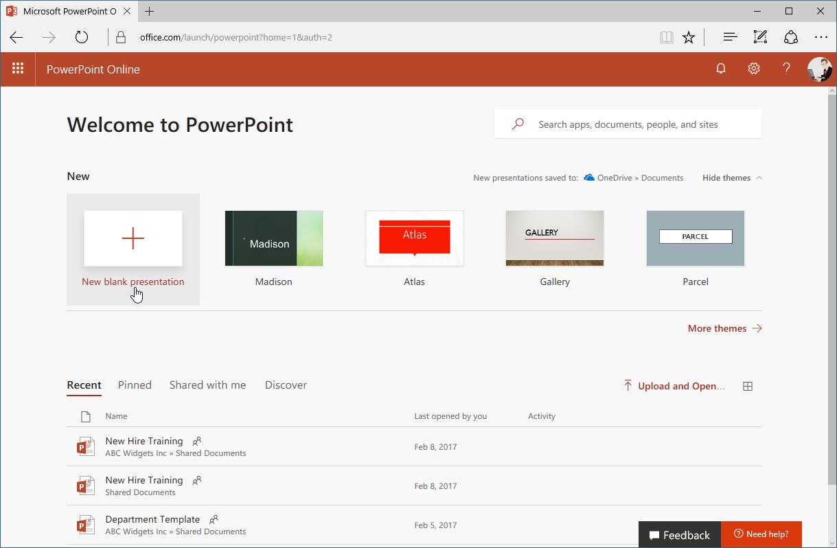 PowerPoint Online 8