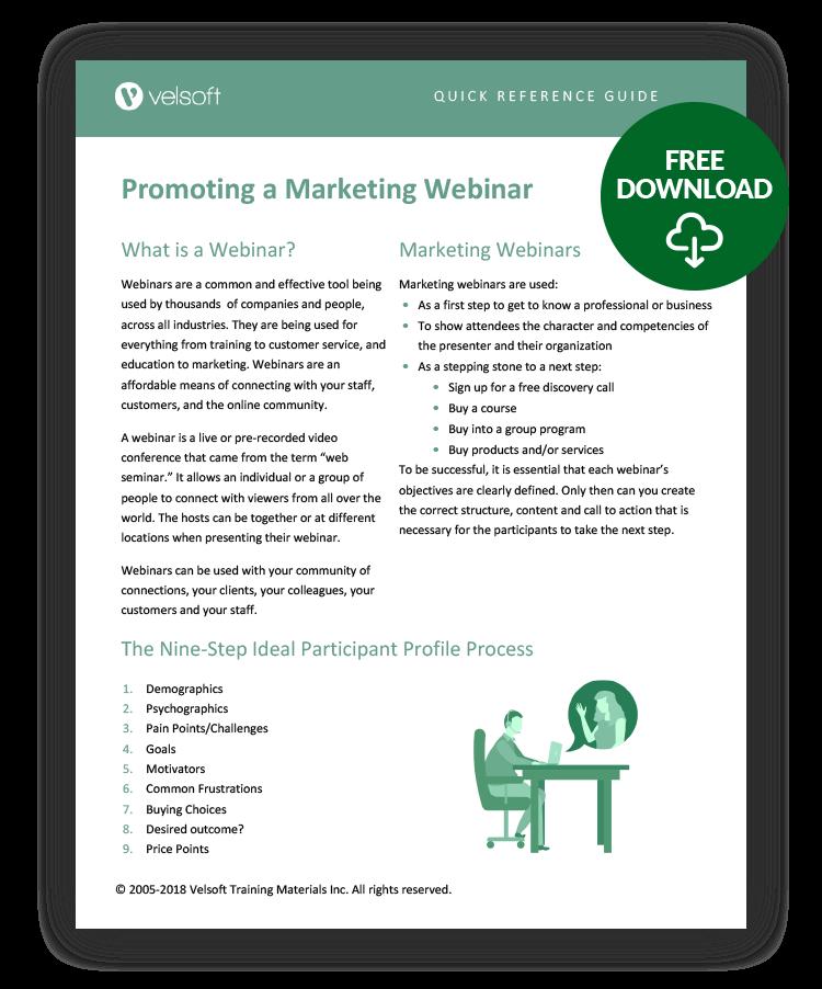 Promoting Webinar