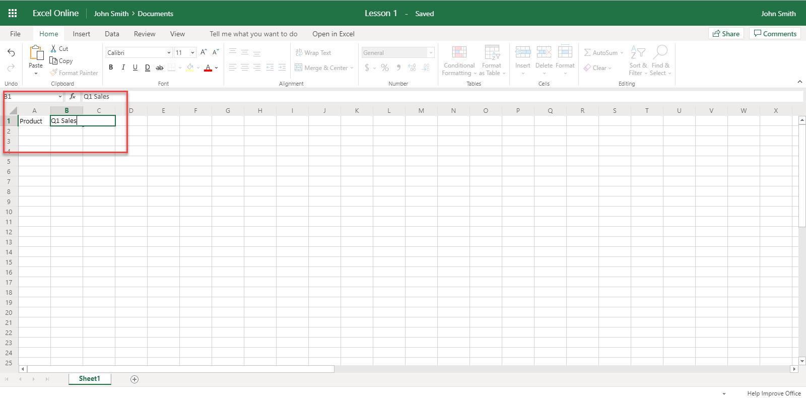 Excel 365 Online
