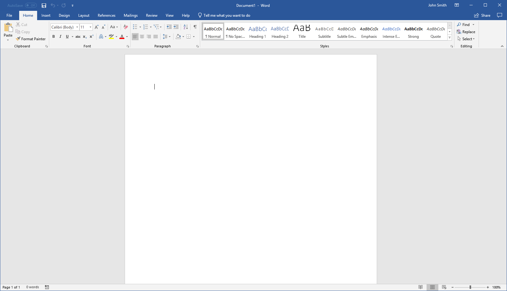 getting started with Word 2