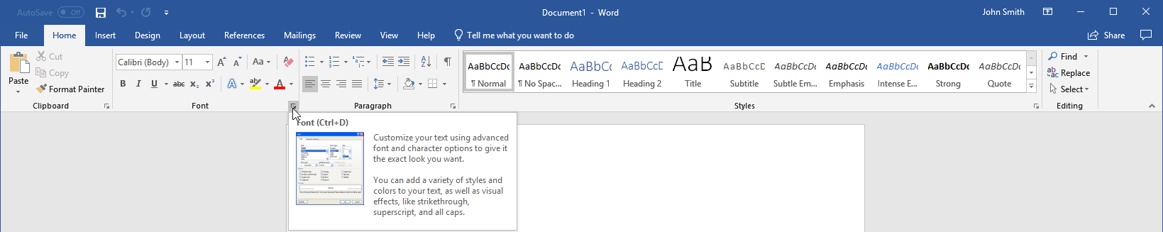 getting started with word 10