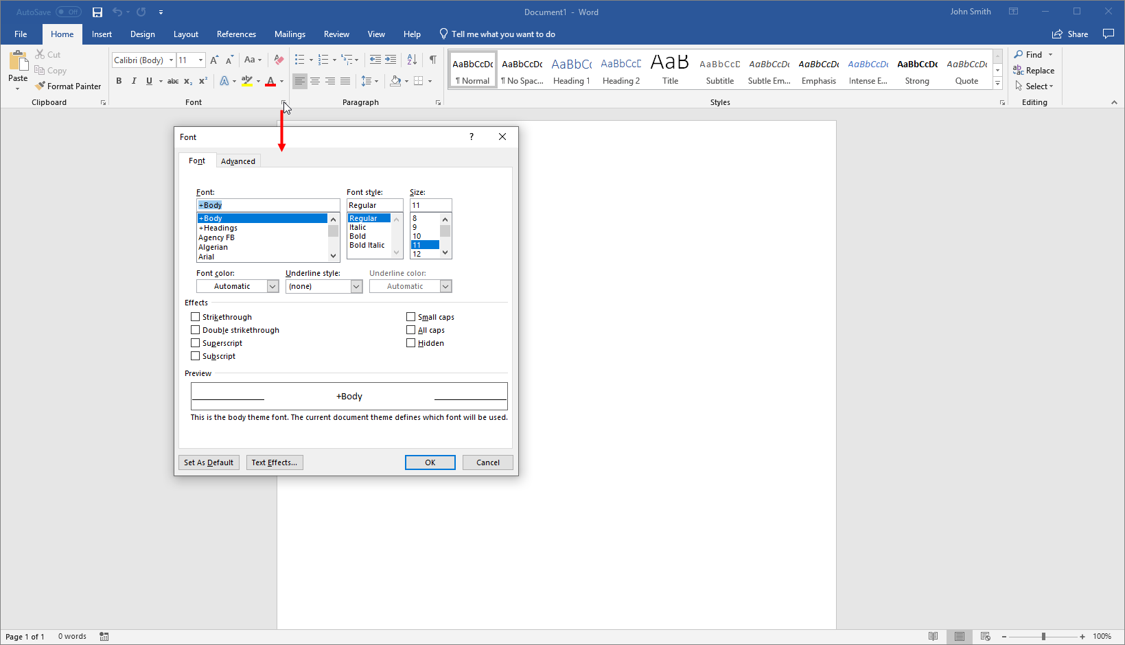 getting started with word 9
